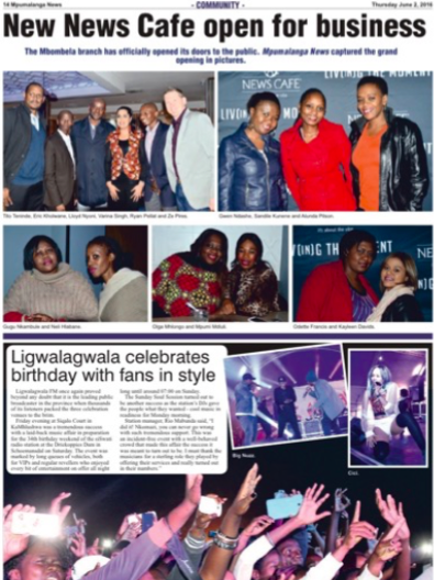 News Cafe | Mpumalanga News | August 2016