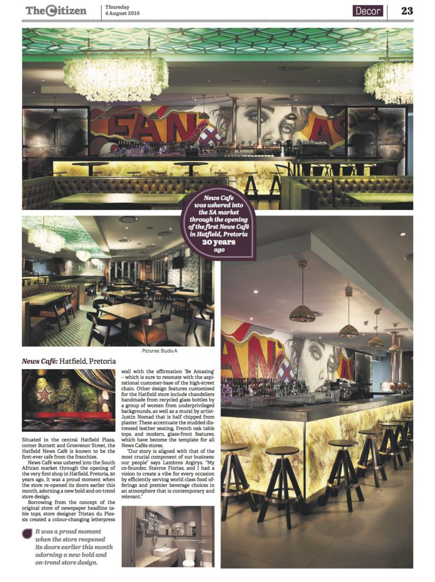 News Cafe | The Citizen Hatfield feature | August 2016